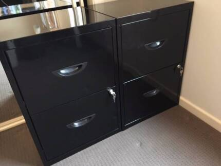 1 x 2 Drawer Black Filing Cabinets BRAND NEW. ( 1 remaining ) : filing cabinets gold coast - Cheerinfomania.Com