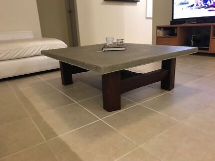 Solid Concrete Coffee Table