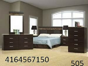 BRAND  NEW  BEDROOM  SET  WITH  LEATHER  HEADBORD  ON  SALE
