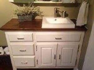 vanité salle de bain meuble sur mesure disponible