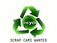 SCRAP VEHICLES WANTED - CARS VANS 4x4 - NON RUNNERS - MOT FAILURES