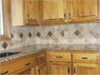 Tile/backsplash installation