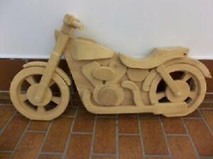 Wooden Motorcycle Wall Hanging