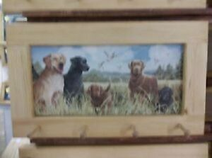 Lab Family Art Framed Peg-Board