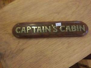 Captains Cabin Door Sign