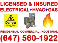 Licensed & Insured ( Electrician & HVAC-GAS )>>>>Free Estimate