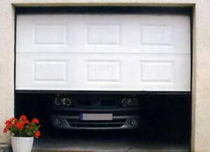 Porte de garage 9 large X 7 haut blanche