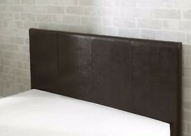 CLEARANCE DOUBLE LEATHER BEDSTEAD