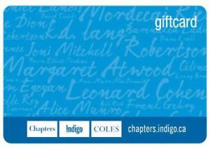 Indigo gift card credit $30.00 Sale for $25.00