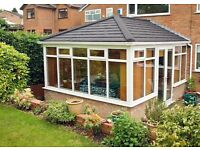 Conservatory roofs tiles or glass from £2750
