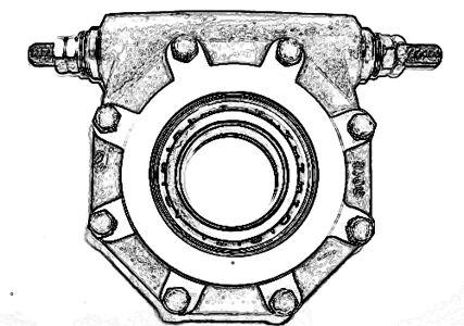 PROPSHAFT CARRIER / CENTRE BEARING MAN 60mm X 184mm (45)