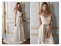 NWT, s12 Nicholas Millington lace wedding dress