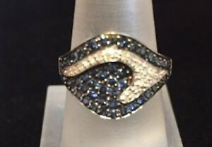 Ocean Wave Sapphire & diamond ring! Spectacular!