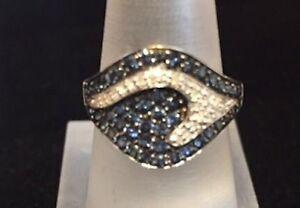 Ocean Wave Sapphire & diamond ring! Spectacular!
