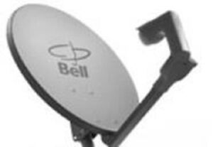Bell ExpressVU HD TV Satellite Dish ►Dual Port LNB ►J Pole Mount