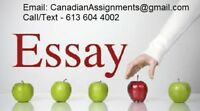 ASSIGNMENTS - HOMEWORK HELP, ESSAYS - OTTAWA 24 / 7