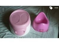 Reduced! Lindam 3 in 1 potty with free basic peppa pig potty both vgc