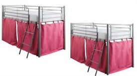 Girls mid sleeper bed + mattress CAN BE SOLD INDIVIDUALLY