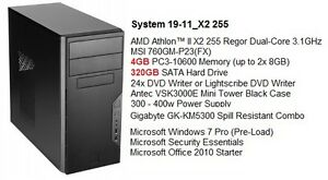 Almost Brand New AMD Athlon™ II Dual-Core /4G/500G Win 7 Tower