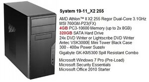 Almost Brand New AMD Athlon™ II Dual-Core /4G /Win 7 Tower