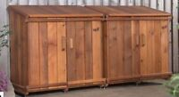 Custom wood garbage bin covers, Sheds, Plantyers, Benches, etc.
