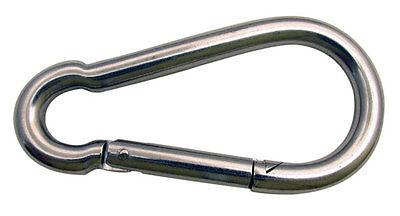 7/16 Stainless Steel Spring Hook / Snap Hook / Carabiner - 2 Pc