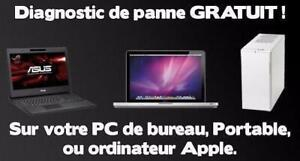 REPARATION DE = LAPTOPS,PC,MACBOOK,SMARTPHONES = 25 ANS DEXPERIENCE