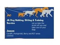 JK Dog Walking, Sitting & Training Service. Cardiff, Pontypridd, RCT and surrounding areas covered