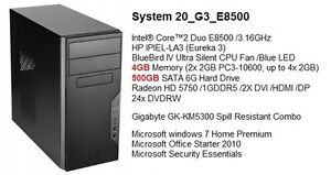Newer Core 2 Duo / 4G DDR3 / 500G /Win7 Basic Gaming Tower