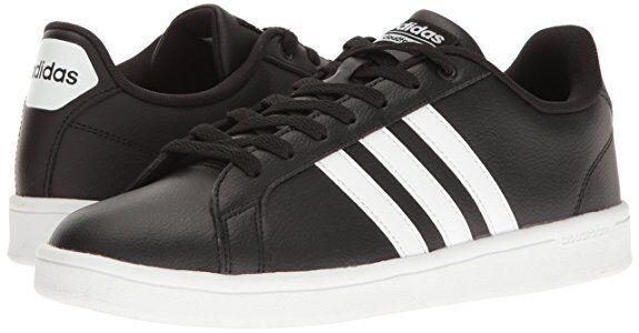 adidas Men's NEO Cloudfoam Advantage Fashion Sneaker B74264 Black/White/White