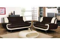 3 & 2 leather sofa
