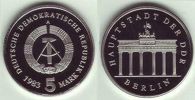 5 Mark 1983 A Brandenburger Tor