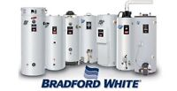 Bradford white water heaters on sale with installation!