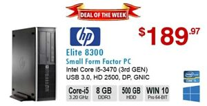 ►►Deal of the Week: HP Elite 8300 Core i5-3470 3.6GHz 8GB 500GB
