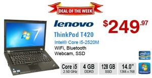 ►►Deal of the Week:  Lenovo ThinkPad T420 Core i5-2520M 4GB 128G