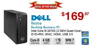 ►►Deal of the Week: DELL Vostro 270S Core i5 3470S 2.90GHz 4GB 1