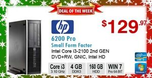 ►►Deal of the Week: HP 6200 Pro Core i3-2100 3.10GHz 4GB 160GB D