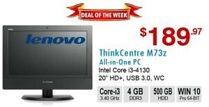 ►►Deal of the Week: ThinkCentre M73z AIO Core i3-4130 4GB 500GB