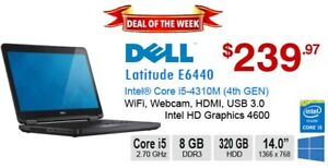 ►►Deal of the Week:  Dell Latitude E6440 Core i5-4310M 8GB 320 G
