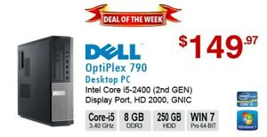►►Deal of the Week: DELL OptiPlex 790 Corei5-2400 3.4GHz 8GB 250