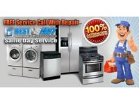 Washing machine, dryer, oven, dishwasher repair service, Installation