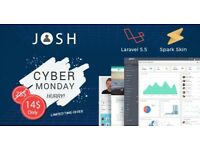 Cyber Monday 50% Off Laravel Admin Panel - JOSH