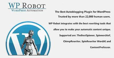 Wp Robot The Best Autoblogging Plugin For Wordpress Lastest Version