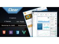 VueJS Admin Template | Larevel VueJS Admin Template - Clear