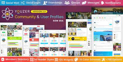 Youzer Buddypress Community Wordpress User Profile Plugin Lastest Version