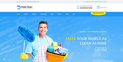 Cleaning Services Company Website Responsive Design/Only $7.99 - Free - Company Website
