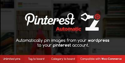 Pinterest Automatic Pin Wordpress Plugin Updated Limited Time