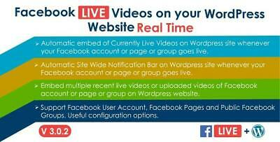 Facebook Live Video Auto Embed For Wordpress Lastest Version Original Files