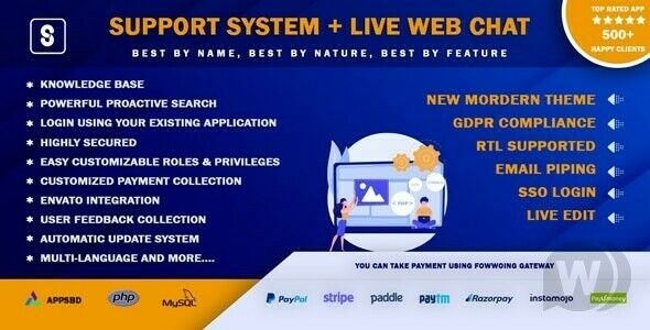 Best Support System SaaS - Live Web Chat & Client Support Desk & Support Ticket