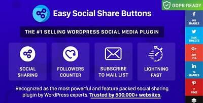Wordpress Easy Social Share Buttons Add-ons Grow Your Social Shares